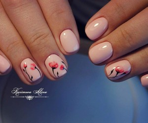 manicure, nail art, and nails done image