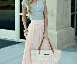 fashion, rosa, and falda image