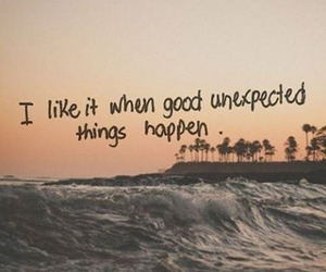 quotes, unexpected, and beach image