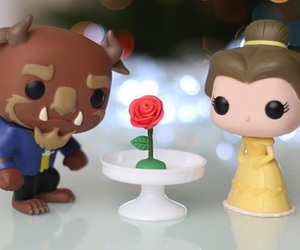 beauty and the beast, flower, and rose image