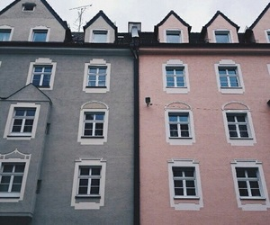 pink, house, and theme image
