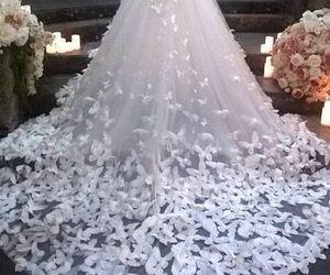 wedding, fashion, and dress image
