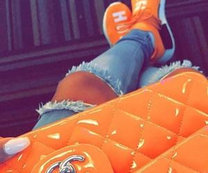 bag, chanel, and orange image
