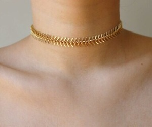aesthetic, gold, and neck image