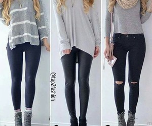 leggings, fall outfit, and comfty image