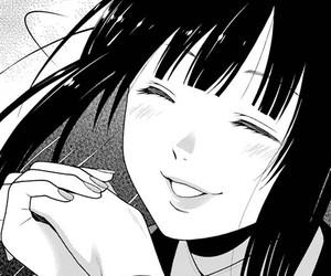 aesthetic, black and white, and manga girl image