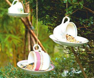 garden, inspo, and bird feeder image