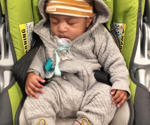 baby boy, grey, and fashion image