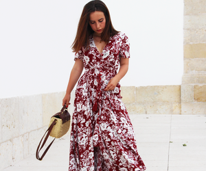fashion, long dress, and minimal image