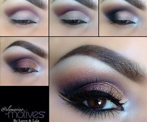 eyes, makeup, and brown image