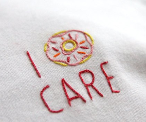 care, donut, and quote image