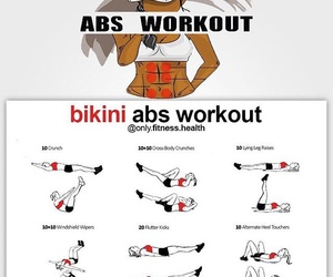 abs, fitness, and exercises image