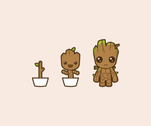 drawing, cute, and guardians of the galaxy image