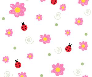 flowers, ladybugs, and patterns image