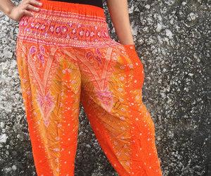 bohemian, harem pants, and yoga pants image