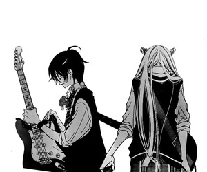 animation, guitar, and lovely image