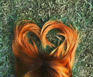 ginger, hair, and heart image