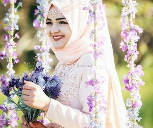 beautiful, flower, and wedding dress image