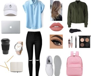 outfit, school, and style image