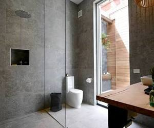 architecture, bathroom, and black image