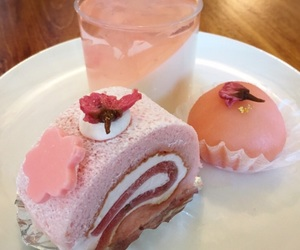 food, pink, and aesthetic image
