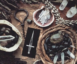 crystal, witch, and witchcraft image