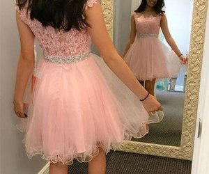 prom dresses, homecoming dress, and pink homecoming dresses image