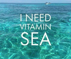 sea, summer, and vibes image