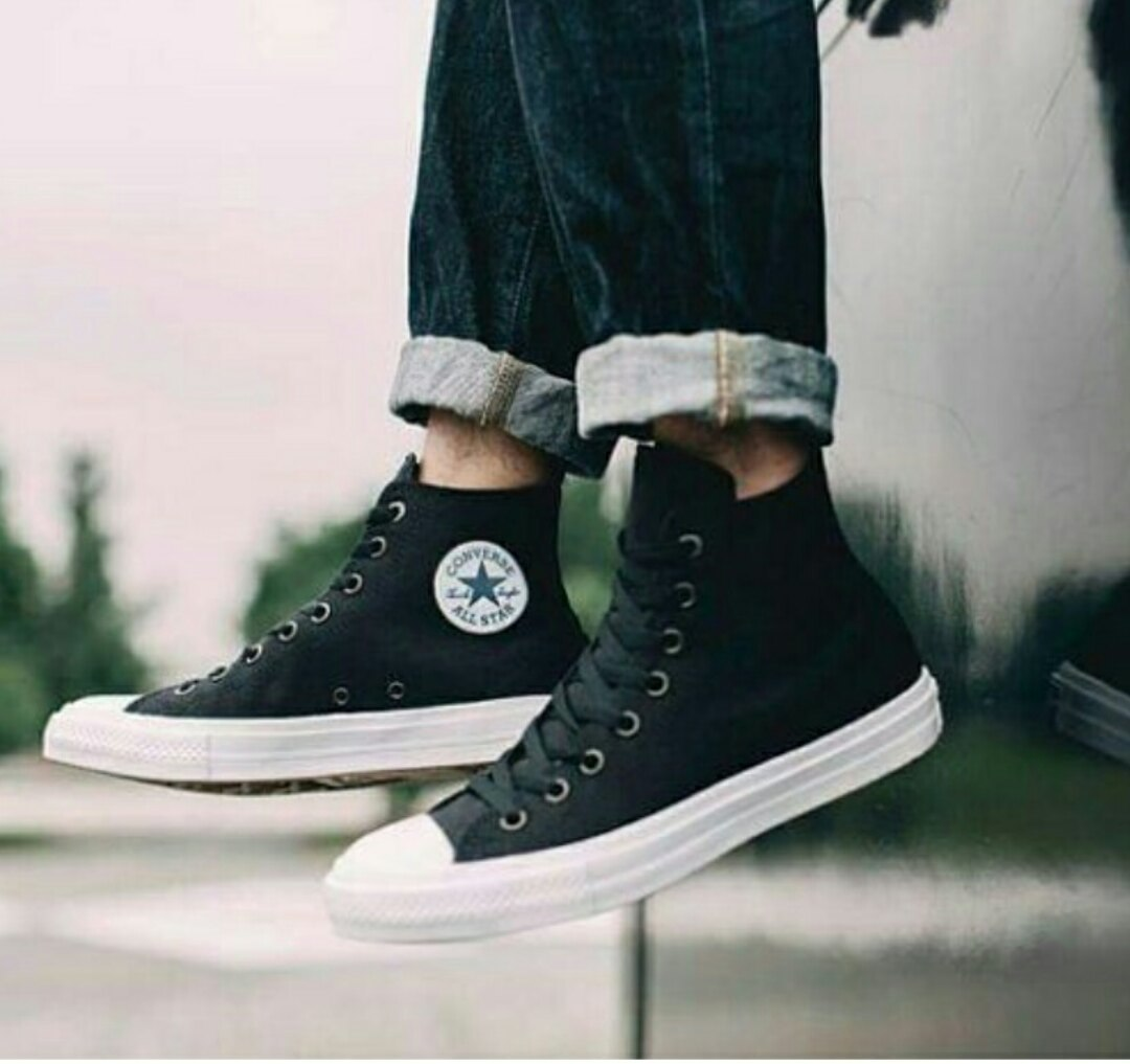 all star, black, and chuck taylor image