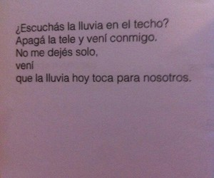 frases, love, and lluvia image