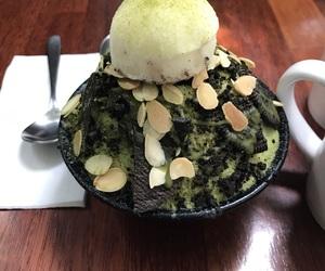 black, icecream, and greentea image