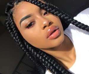 braid, girl, and makeup image