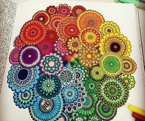 colors, mandala, and art image