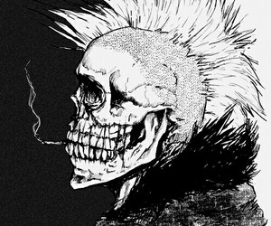 skull, punk, and art image