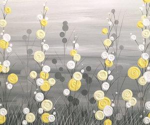 circles, yellow, and etsy image