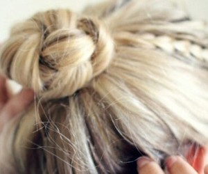 blonde, girly, and hair style image