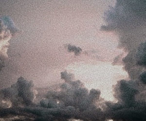 clouds, grunge, and pale image