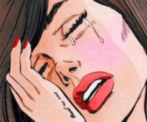 cartoons, heartbreak, and tears image