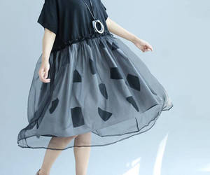 black dress, etsy, and leisure image