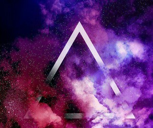 wallpaper, galaxy, and triangle image