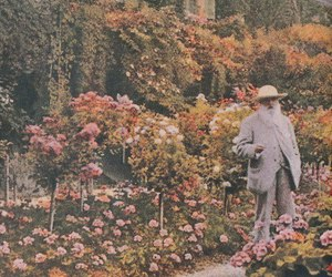 flowers, garden, and monet image