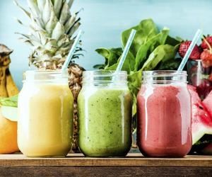 fruit, smoothies, and healthy food image