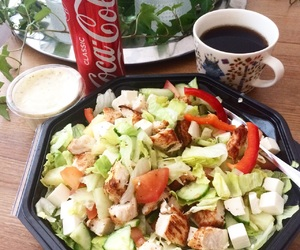cocacola, delicious, and dinner image