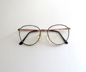 eyeglasses, glasses, and vintage image