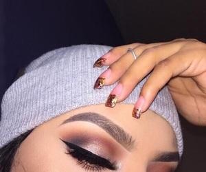 brunette, liner, and goals image