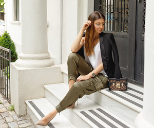 fashion blogger, outfit inspiration, and army pants image