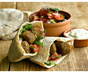delicious, falafel, and food image