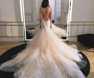 bridal, wow, and dress image