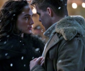 wonder woman, chris pine, and love image