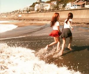 beach, girls generation, and sand image